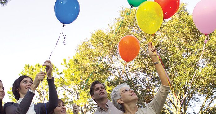 Balloon Release at Forest Lawn Funeral Home