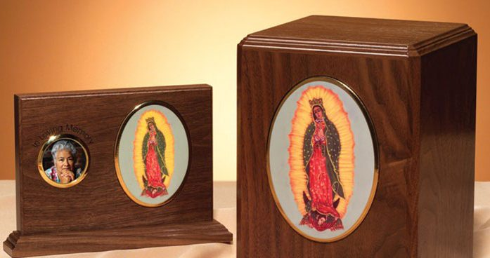 Memorial items for personalization at Forest Lawn Funeral Home