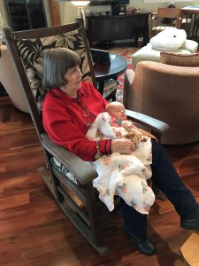 Beth with great grand baby Zoë